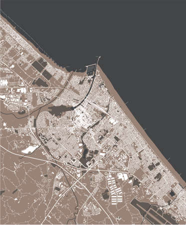 map of the city of Rimini, Italy
