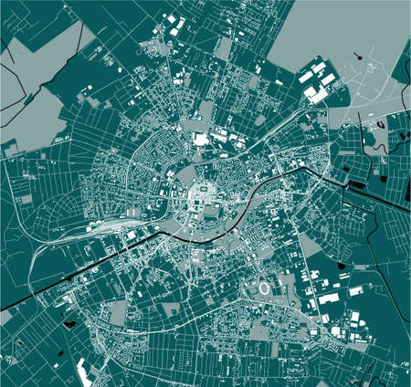 map of the city of Timisoara, Romania