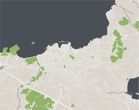 map of the city of Chania, Crete, Greece