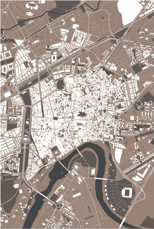 map of the city of Cordoba, Spain