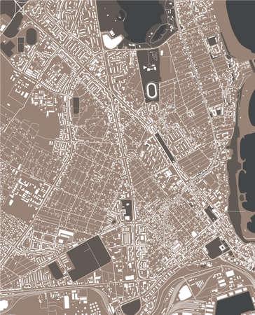 map of the city of Constanta, Romania Stock Illustratie