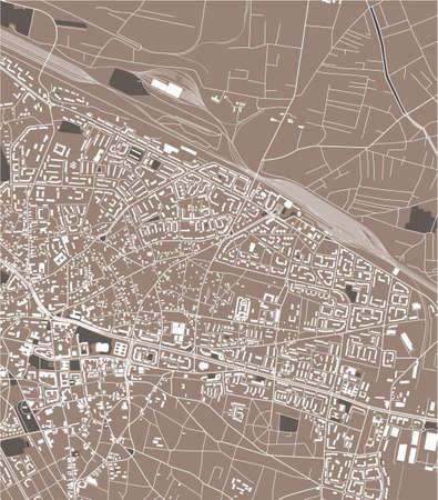 map of the city of Craiova, Romania