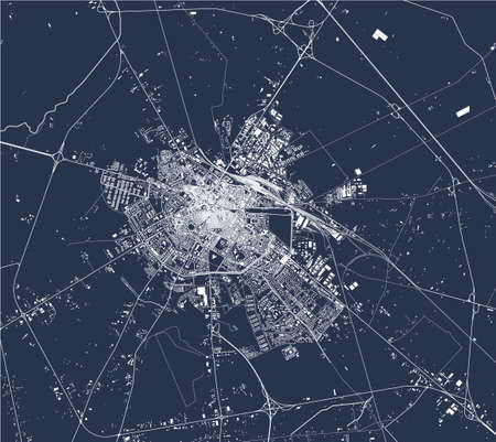 map of the city of Foggia, Italy