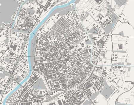 map of the city of Valladolid, Spain Stock Illustratie