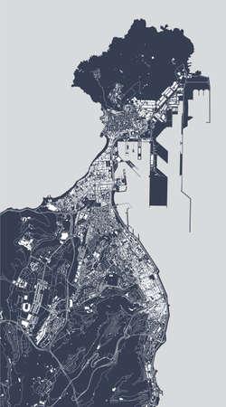 map of the city of Las Palmas de Gran Canaria, Spain Stock Illustratie