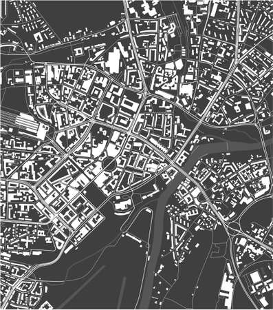 map of the city of of Kassel, Germany