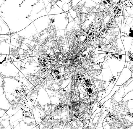 map of the city of Monchengladbach, Germany Stock Illustratie