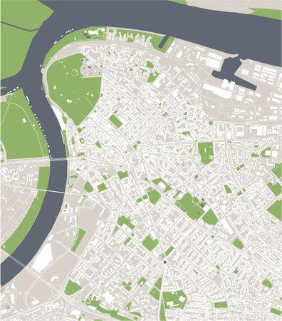 map of the city of Belgrade, Serbia Stock Illustratie