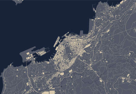 map of the city of Vigo, Spain Stock Illustratie
