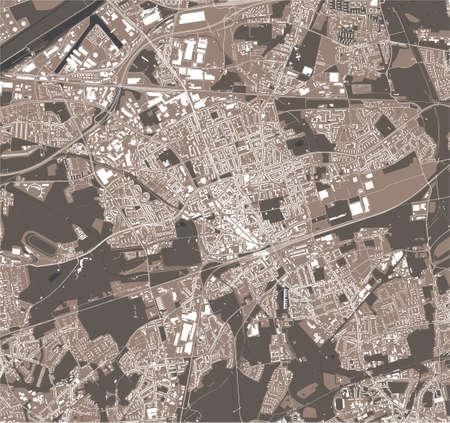 map of the city of Gelsenkirchen, Germany Stock Illustratie