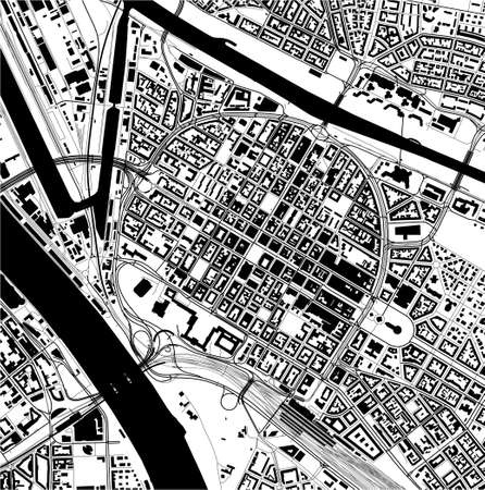 map of the city of Mannheim, Germany