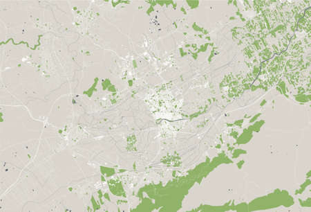 map of the city of Murcia, Spain