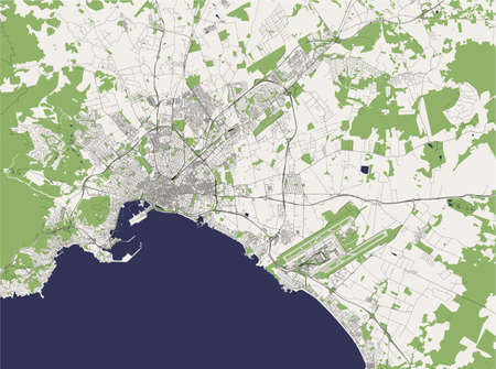 map of the city of Palma, Spain Stock Illustratie