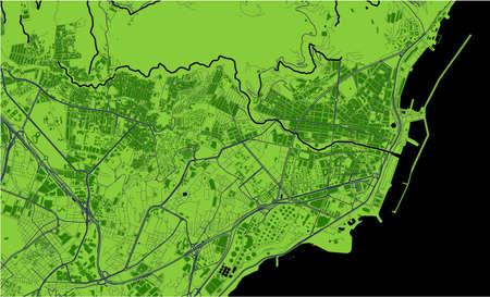 map of the city of Santa Cruz de Tenerife, Spain Vector Illustration