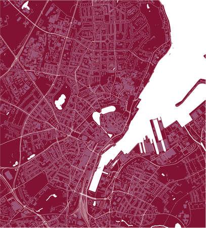 map of the city of of Kiel, Germany 矢量图像
