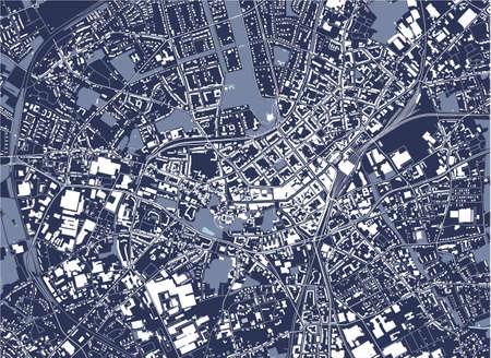 map of the city of Monchengladbach, Germany 矢量图像