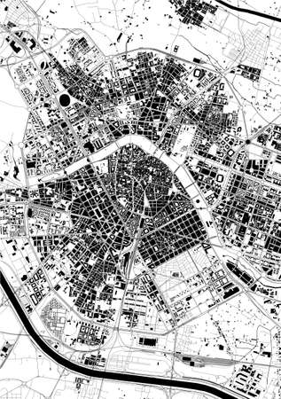 map of the city of Valencia, Spain