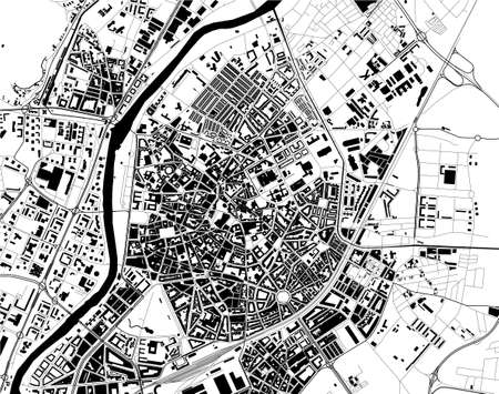 map of the city of Valladolid, Spain 矢量图像
