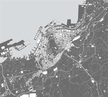 map of the city of Vigo, Spain 矢量图像