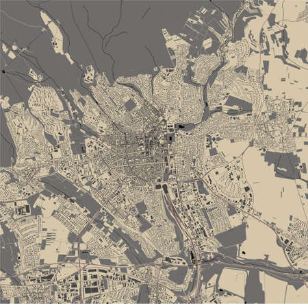map of the city of Wiesbaden, Germany