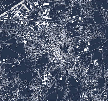map of the city of Gelsenkirchen, Germany 矢量图像