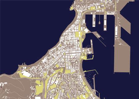 map of the city of Las Palmas de Gran Canaria, Spain 矢量图像