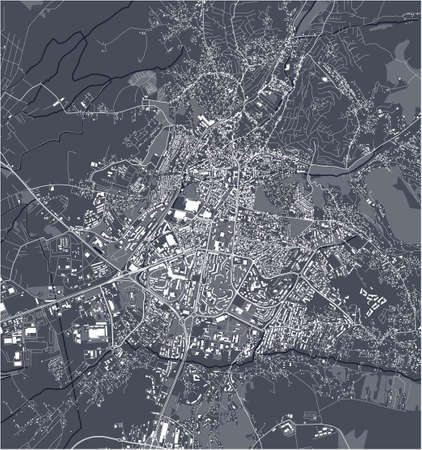 map of the city of Pristina, Kosovo