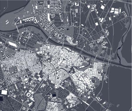 map of the city of Zaragoza, Spain