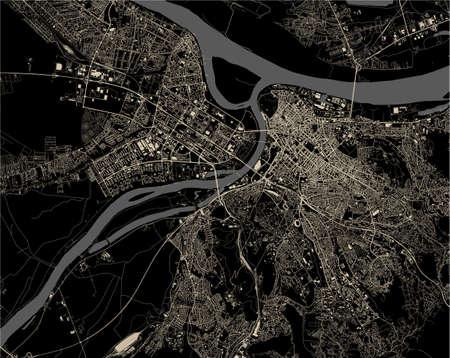 map of the city of Belgrade, Serbia 矢量图像
