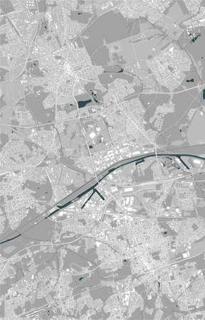 map of the city of Gelsenkirchen, Germany 免版税图像