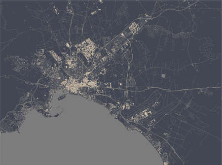 map of the city of Palma, Spain 矢量图像