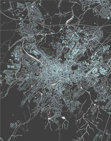 map of the city of Aachen, Germany