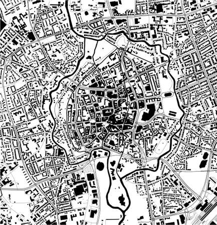 map of the city of of Braunschweig, Germany 矢量图像