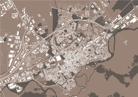 map of the city of Alcala de Henares, Spain 矢量图像
