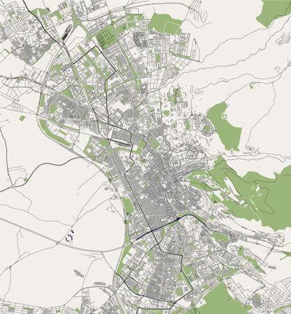 map of the city of Granada, Spain 矢量图像