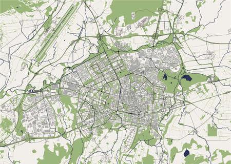 map of the city of Vitoria-Gasteiz, Spain
