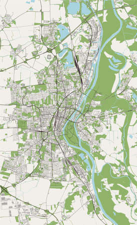 map of the city of Magdeburg, Germany