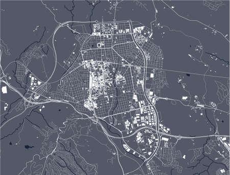 map of the city of Terrassa, Spain 矢量图像