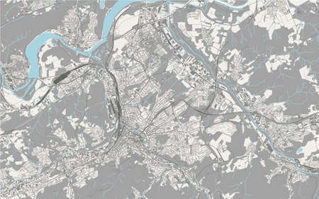map of the city of Hagen, Germany