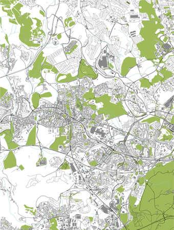 map of the city of Amadora, Portugal