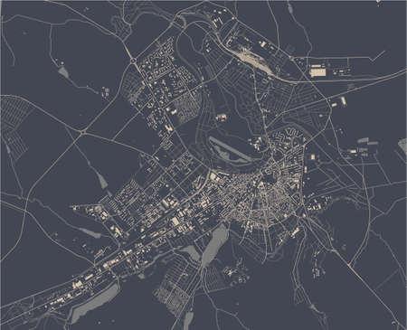 map of the city of Balti, Moldova