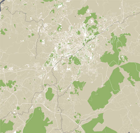 map of the city of Braga, Portugal
