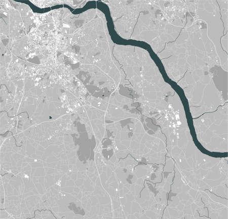 map of the city of Vila Nova de Gaia, Portugal Stock Illustratie