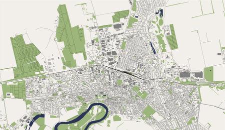 map of the city of Tiraspol, Moldova Ilustração