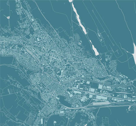 map of the city of Iasi, Romania