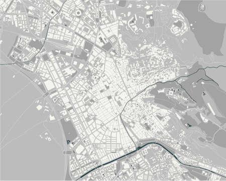map of the city of Granada, Spain Ilustração