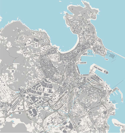 map of the city of A Coruna, Spain