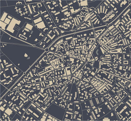map of the city of Mostoles, Spain