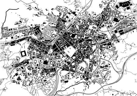 map of the city of Oviedo, Spain
