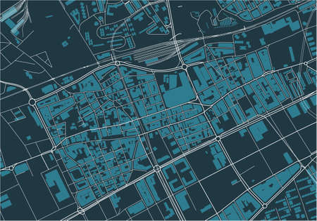 map of the city of LHospitalet de Llobregat, Spain